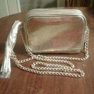 NWT Victoria's Secret Silver Bag Gold Chain Tassel